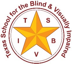 Texas School for the Blind and Visually Impaired logo.