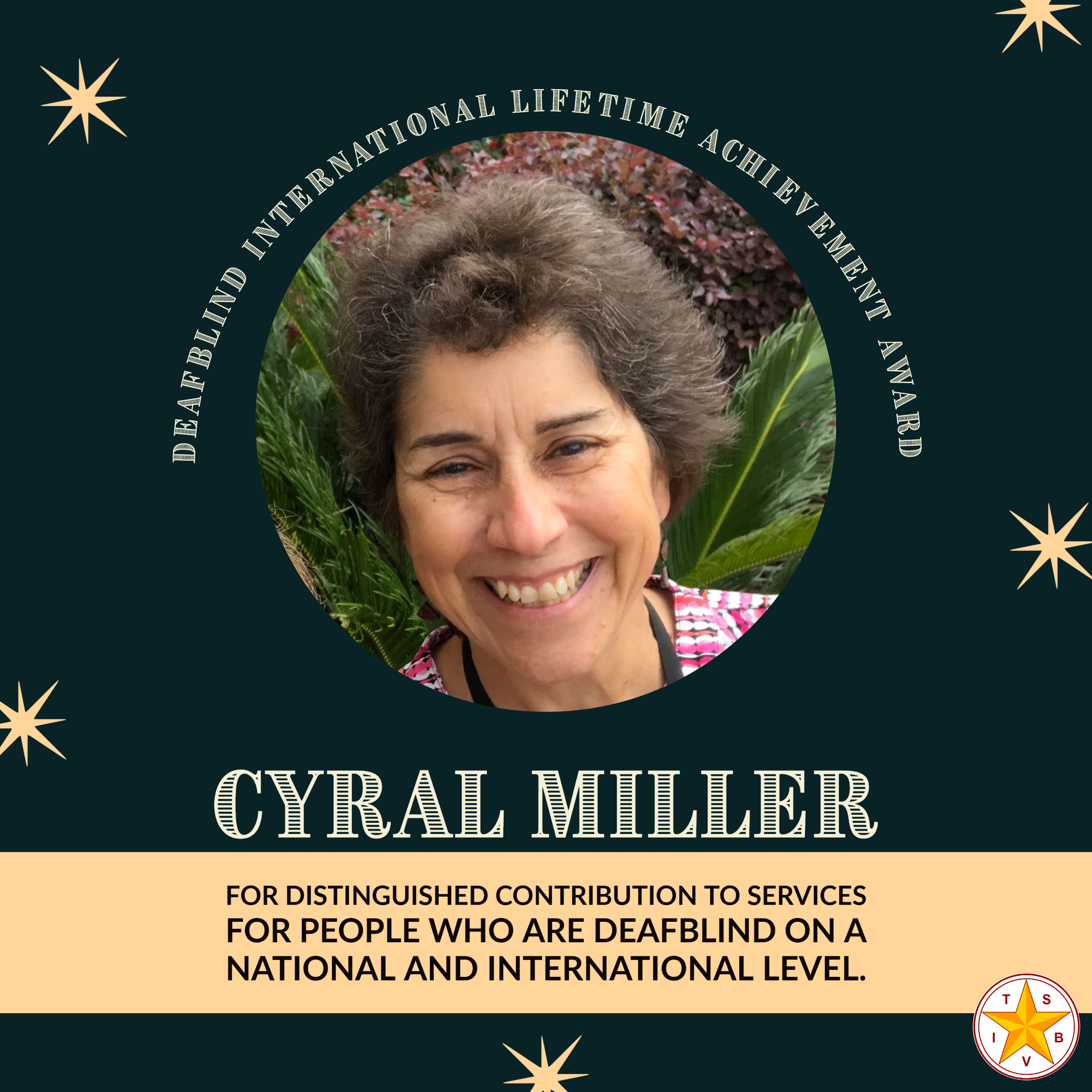 LIfetime Achievement Award recipient for 2021, Cyral Miller.