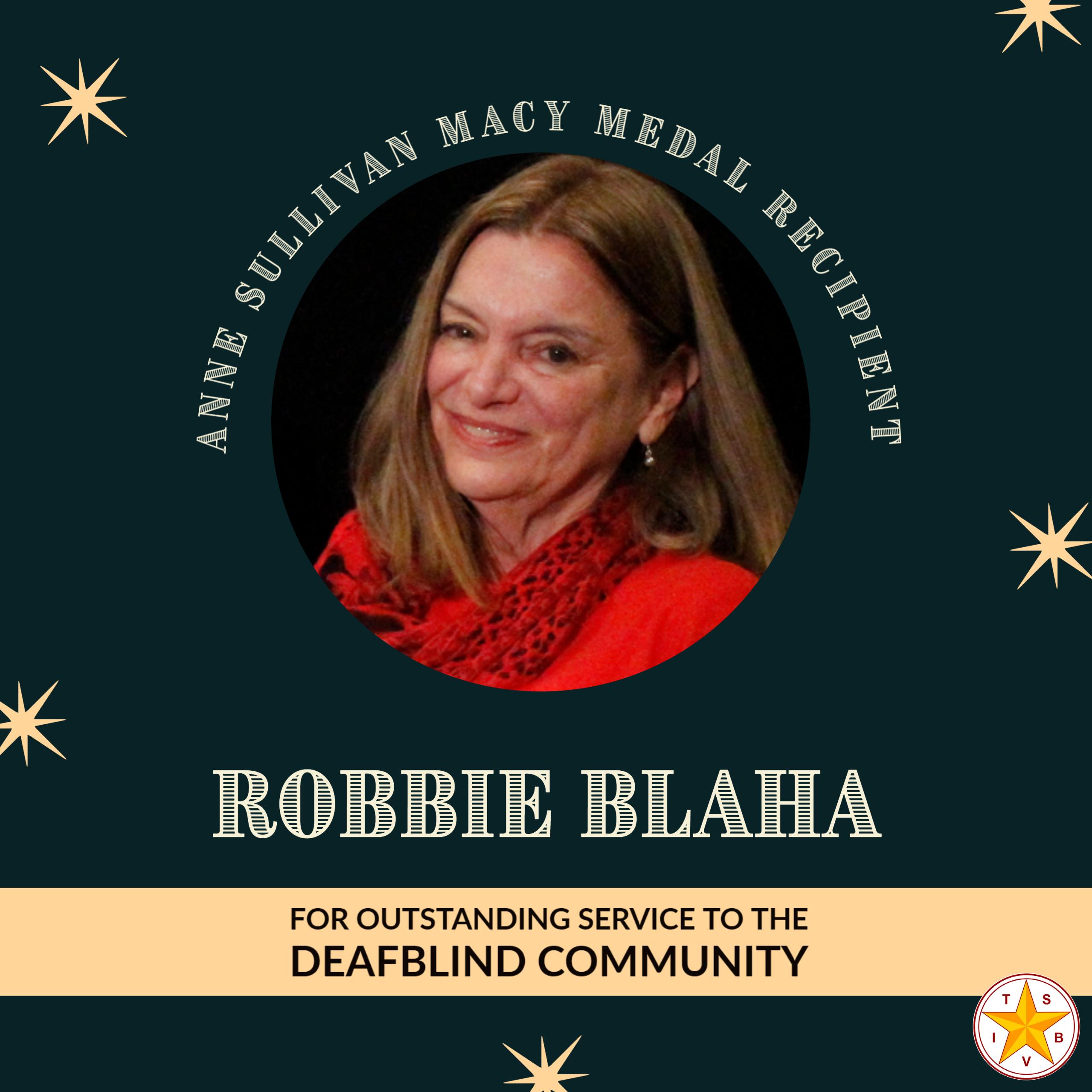 Robbie Blaha, 2021 Anne Sullivan Macy Medal Recipient