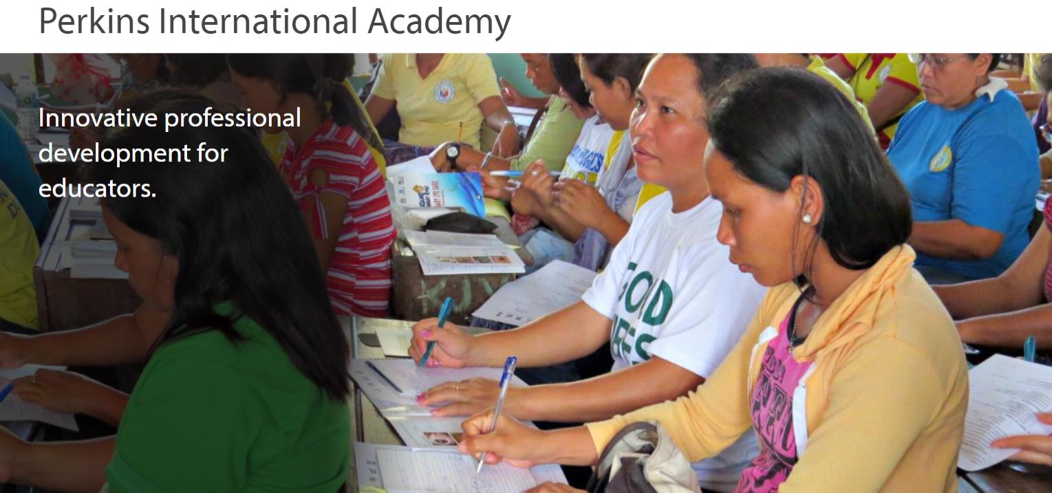 Perkins International Academy Website Screenshot