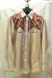 Western shirt with pearl buttons.