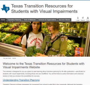 Texas Transition Resources for Students with Visual Impairments