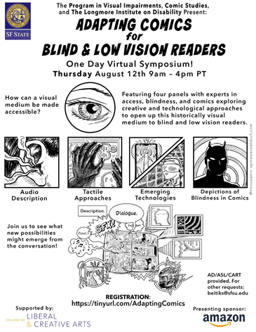 Adapting comics for blind and low vision readers graphic.
