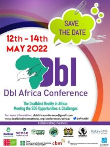 Poster for the May 2022 African DbI Conference